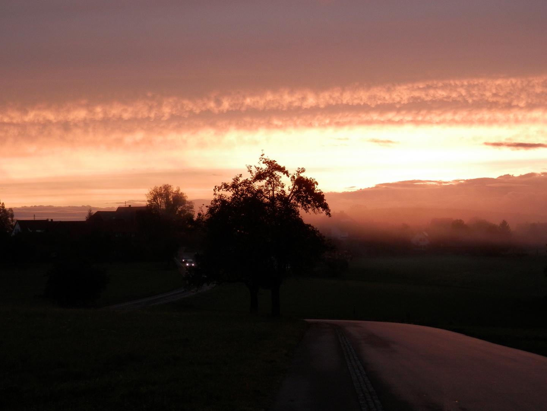 Tagesanbruch ( rot und lila )...