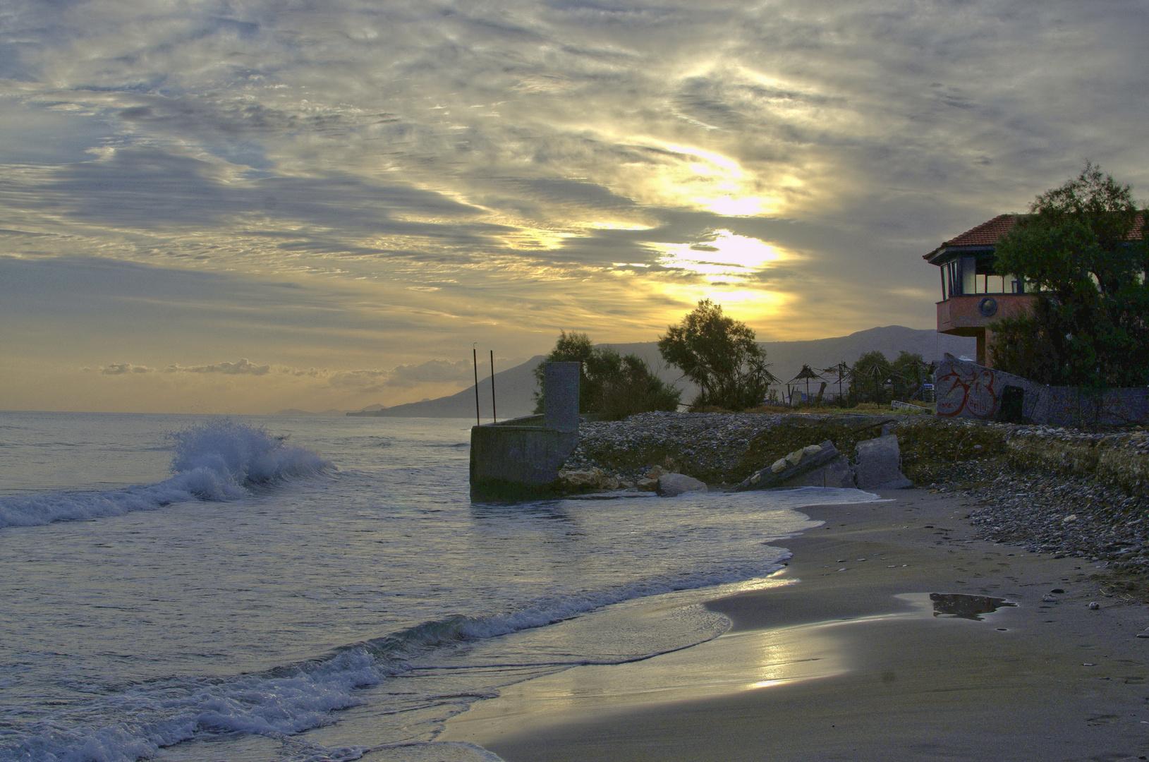 Tagesstart am Meer