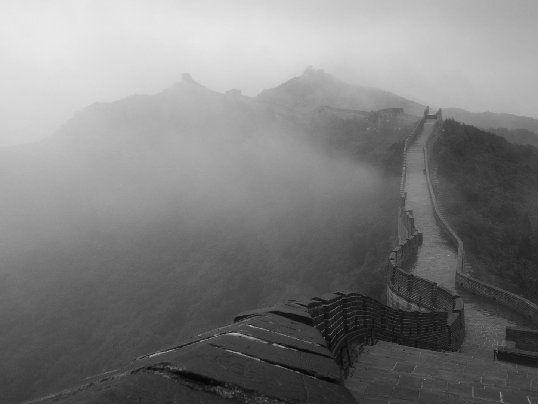 Taifun über der Mauer