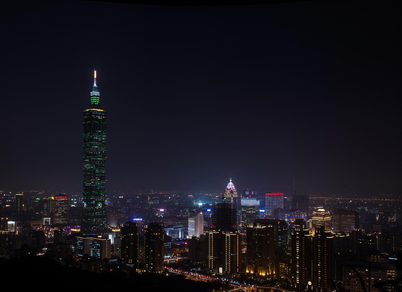 Taipei Skyline bei Nacht