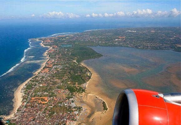 ...take off in Denpasar, Bali...