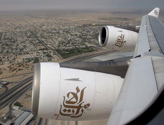 Take off in Dubai...