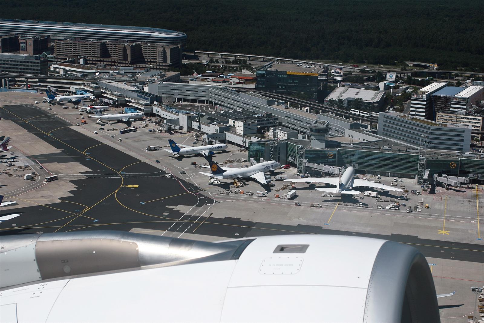 ...take off in FRA...