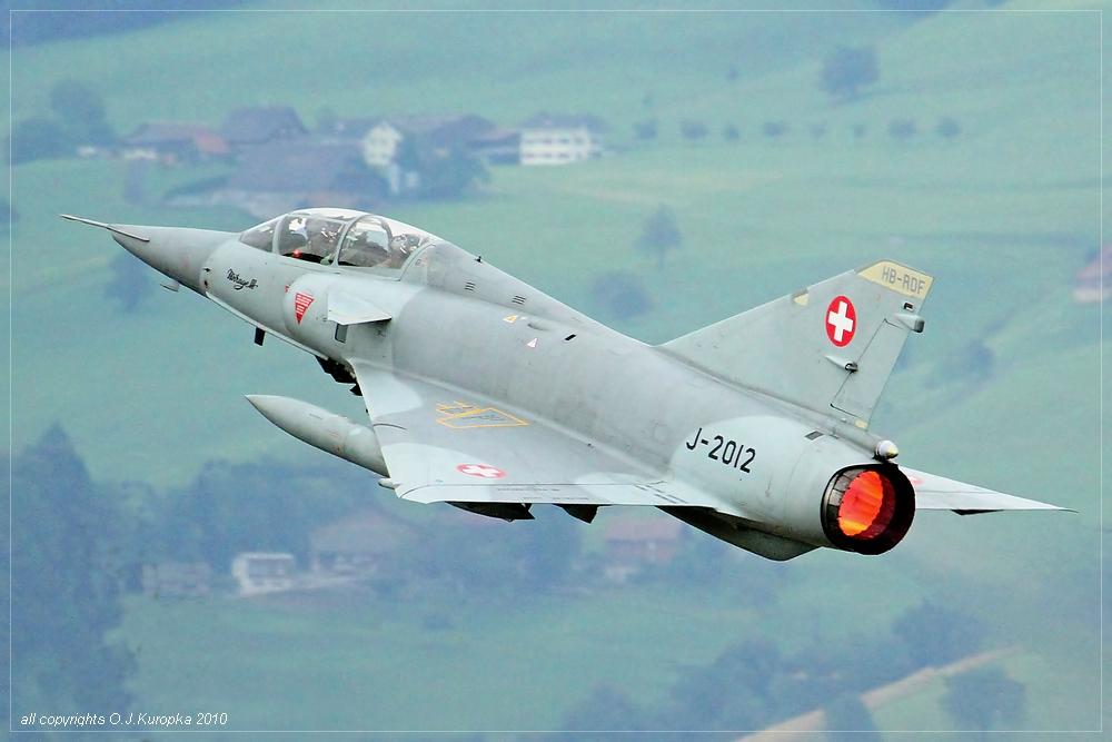 """""""takeoff"""" einer Mirage III"""