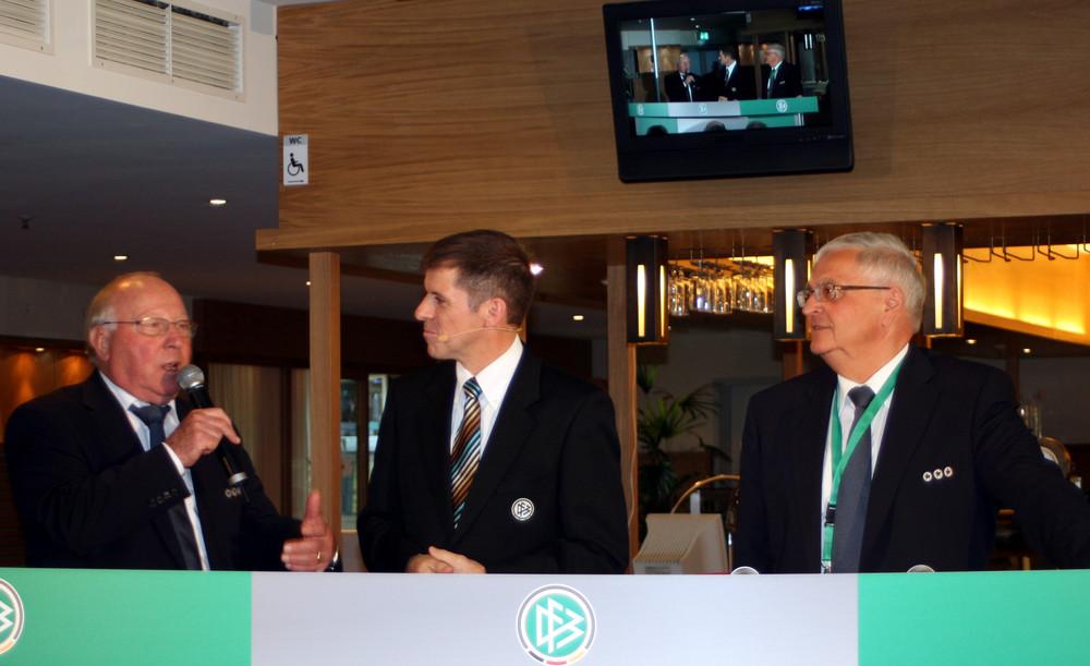 Talkrunde mit Uwe Seeler und Theo Zwanziger