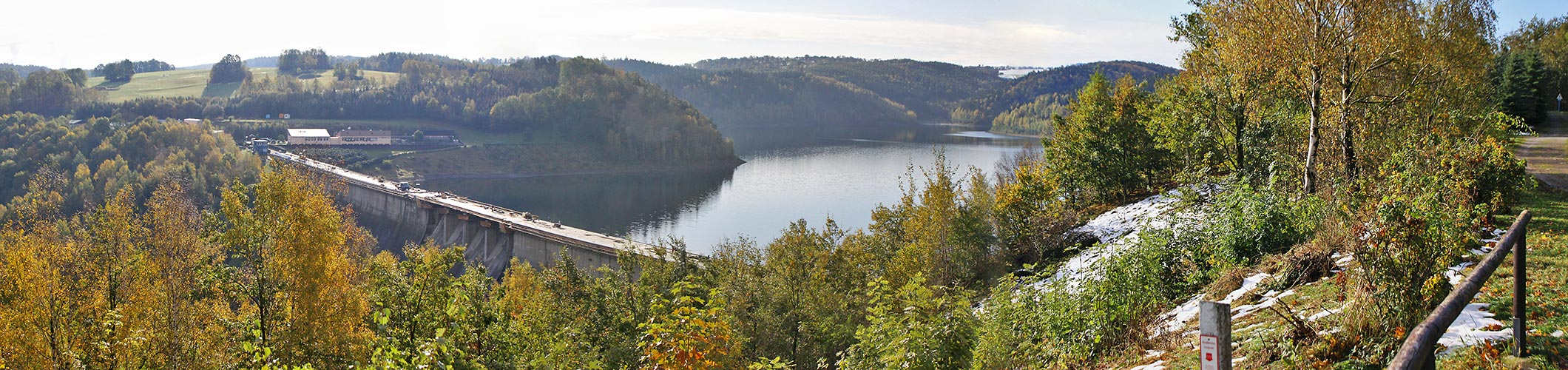 Talsperre Bad-Gottleuba im Osterzgebirge am 19.10. 09 im goldenen Herbst...