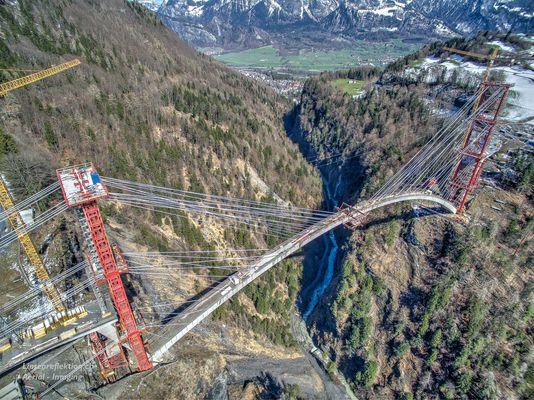 Taminabrücke bei Valens (Bad Ragaz)