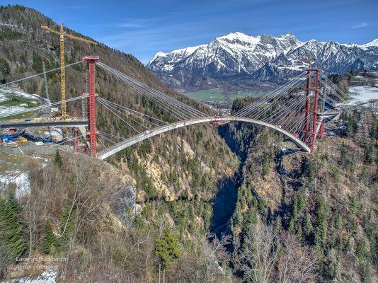 Taminabrücke bei Valens (Bad Ragaz) zum Zweiten