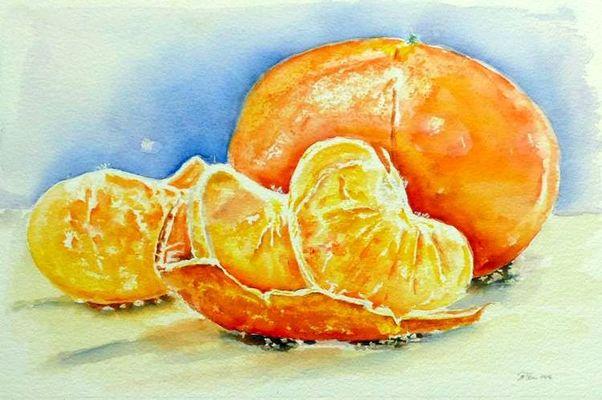 Tangerine Aquarell