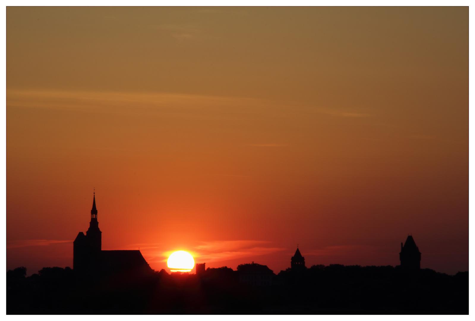 Tangermünde sunset