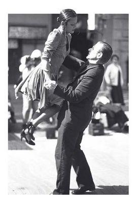 Tango in auf der Ramblas von Barcelona