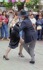 Tango Vorführung Plaza Dorrego in Buenos Aires