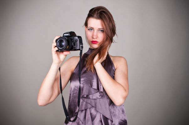 Tanja just holding her camera