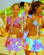Tanz der Sonnenschirm-Mädchen