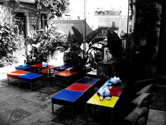 Taormina in Farbe und b/w