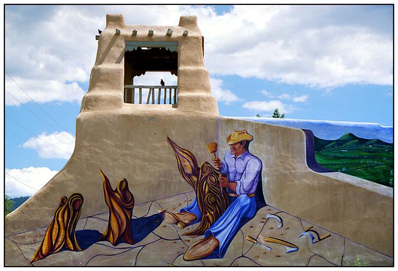 Taos Wandmalerei - New Mexico