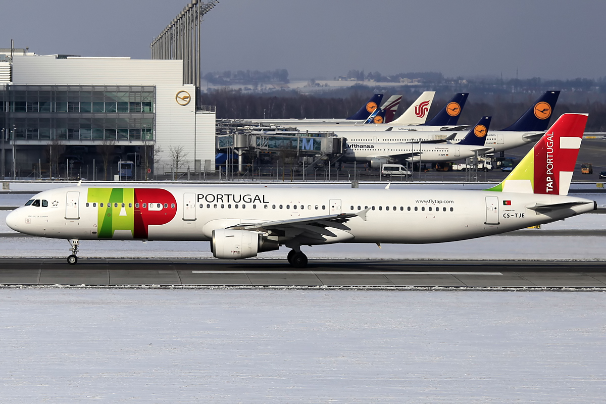 TAP Air Portugal Airbus A321 - Munich Airport am 09.02.2013