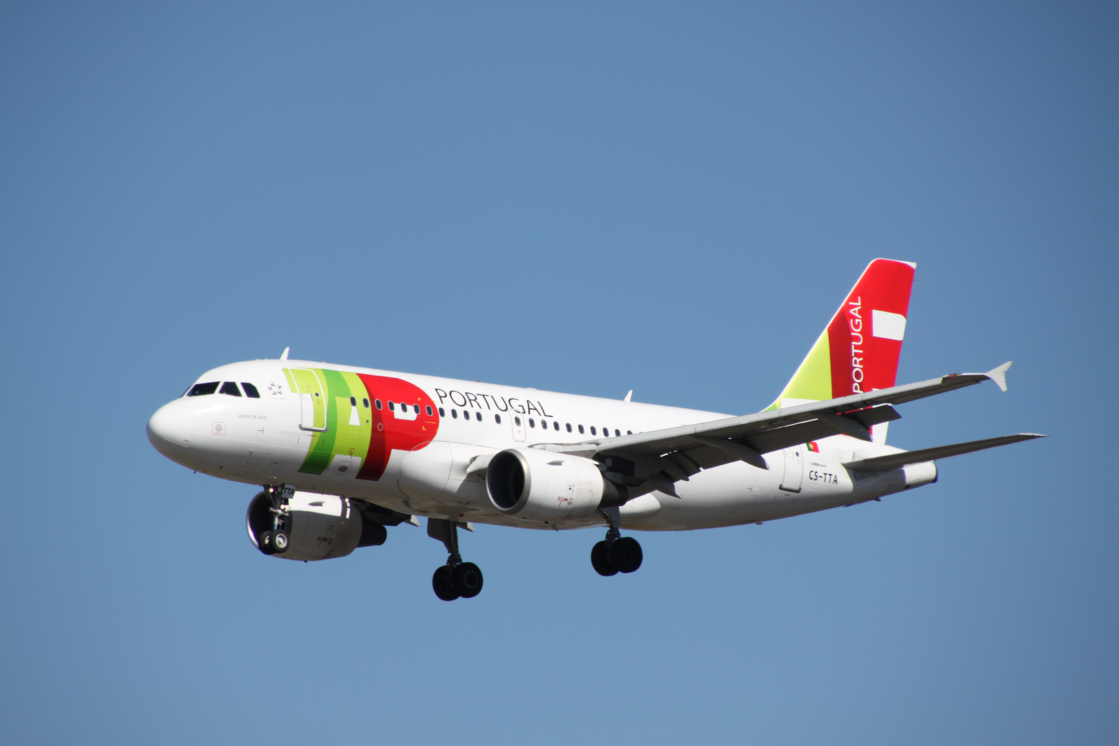 TAP Portugal im Anflug auf Rhein-Main