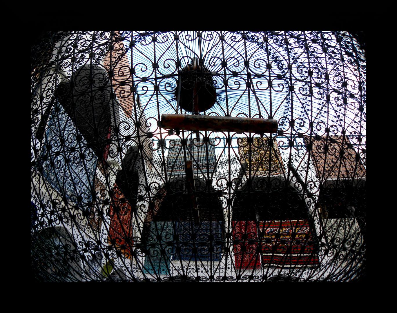 tapis en cage