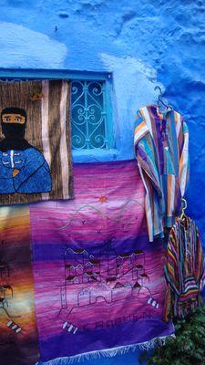 tapis et monteaux à chefchaouen