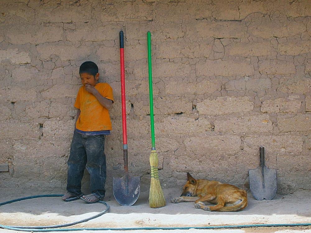 Tarahumara-Indianer Junge, Mexiko