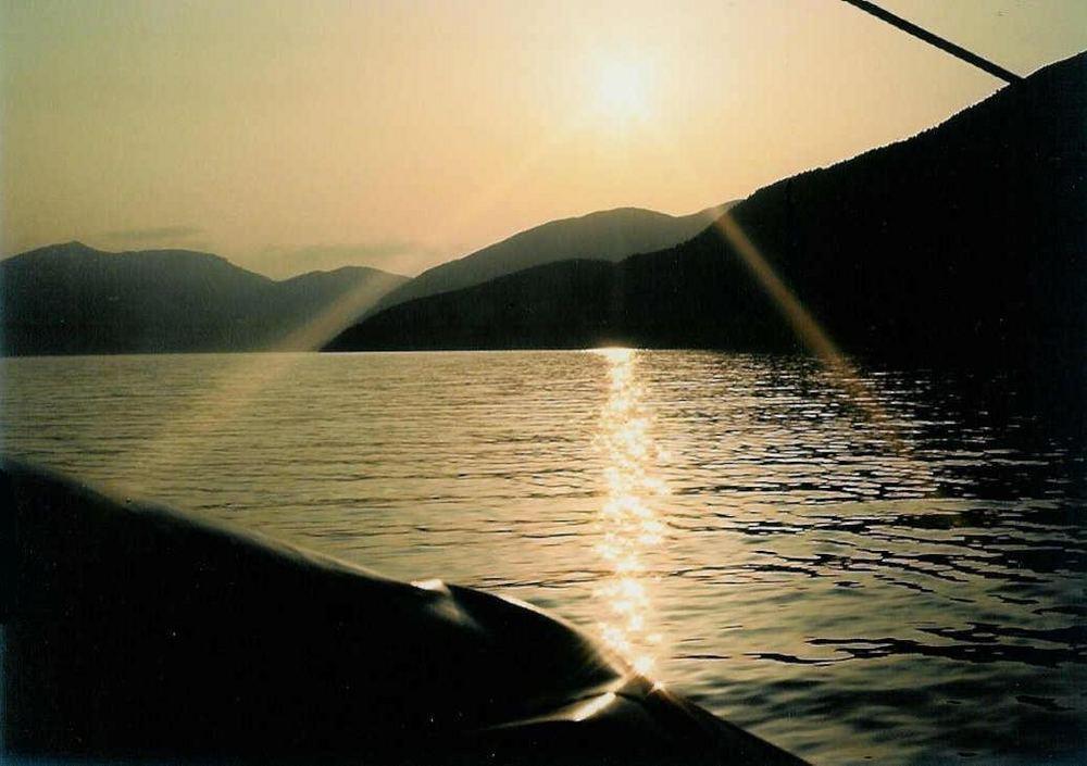 Tard le soir sur le Sognefjord