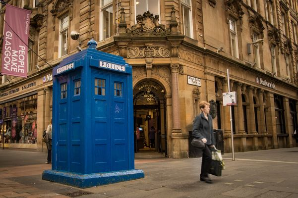 Tardis! Dr Who in Glasgow?