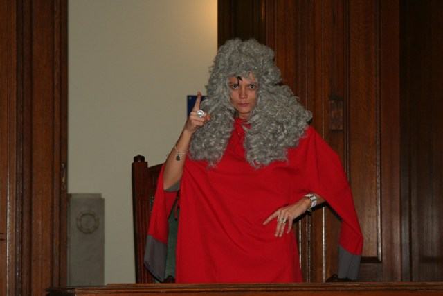 Tarnya as the hanging Judge