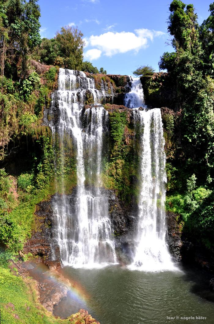 Tat Yuang Waterfall cascades