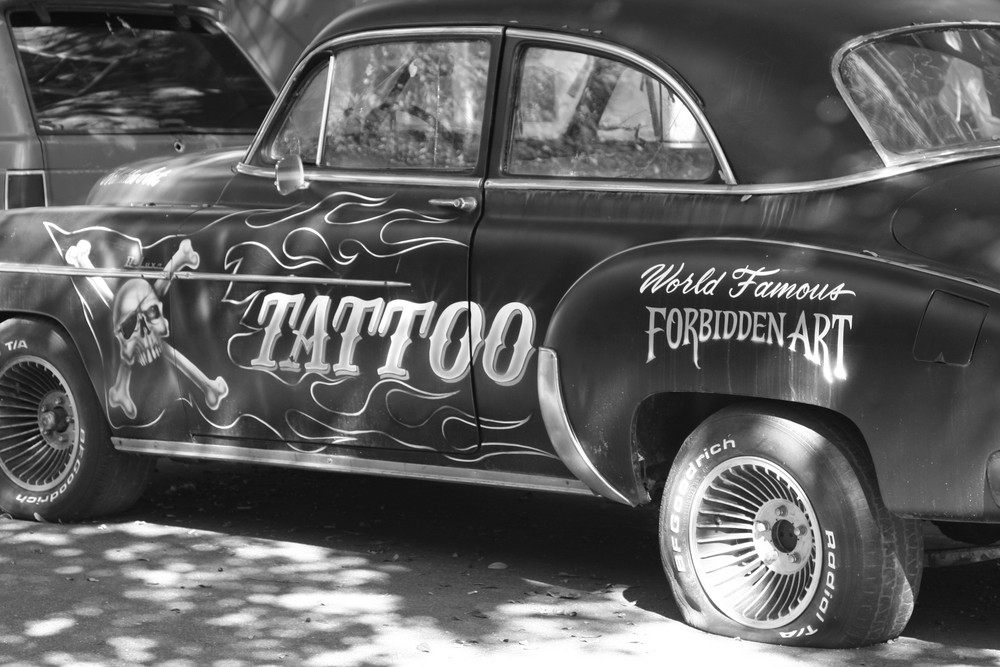 Tatoo Car Flat Tire