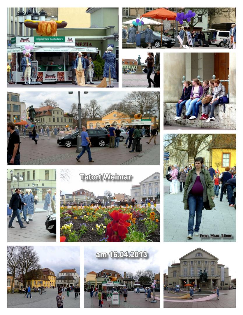 TATORT in Weimar am 16.4.13 als TV - Produktion