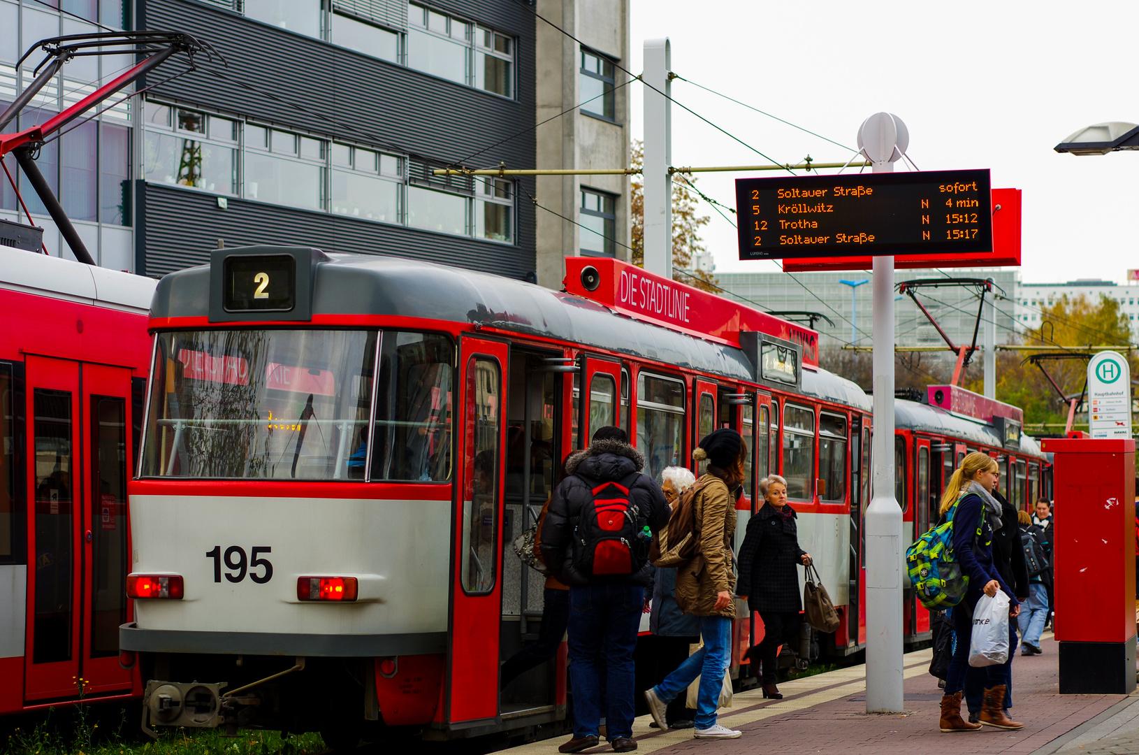 Tatra in Halle (Saale) am Hauptbahnhof