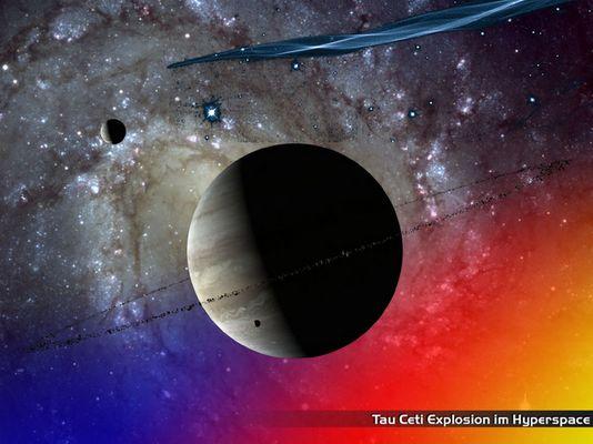 Tau Ceti Hyperspace Explosion