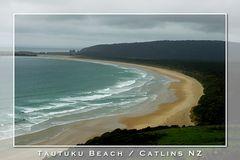 Tautuku Beach bei Sturm & Regen