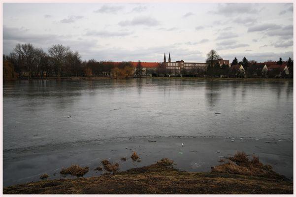 Tauwetter Stadtsee Stendal