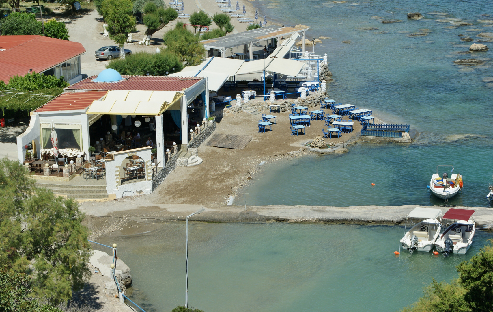Taverne am Meer auf Rhodos