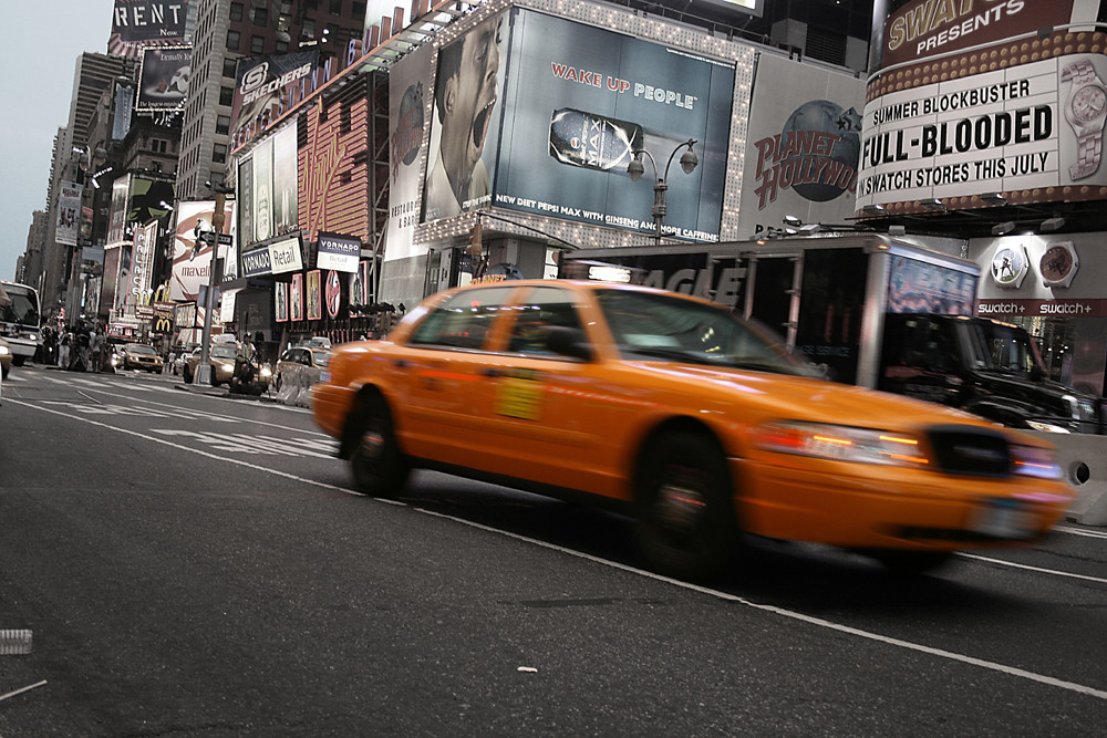 Taxi am Times Square