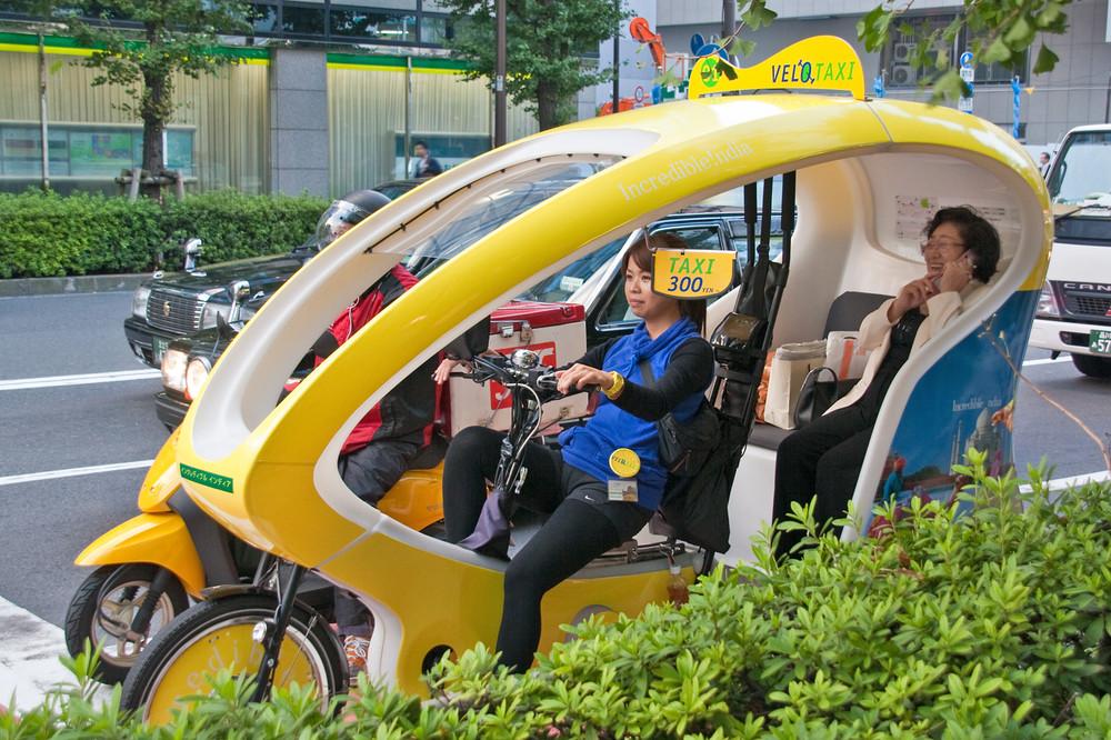 Taxi auf der Ginza