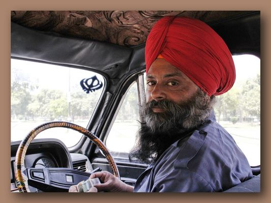 Taxi Fahrer in Delhi