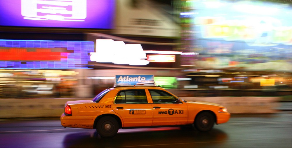 Taxi on the run in New York