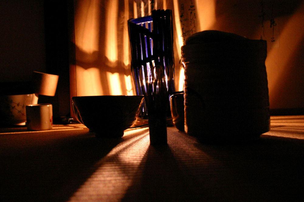 Tea Ceremony in shadows