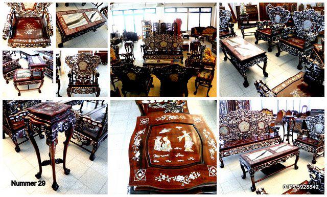 Teakholz Rosenholz aus Thailand Thai Möbel Handgeschnitzt