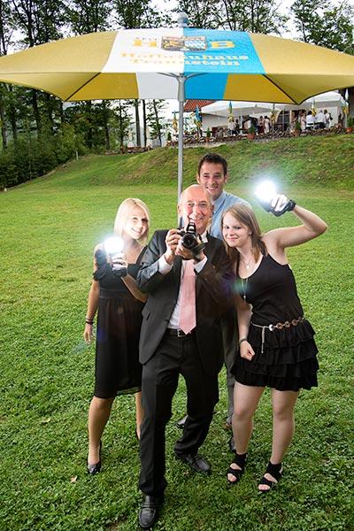 Teamfoto auf einem Event