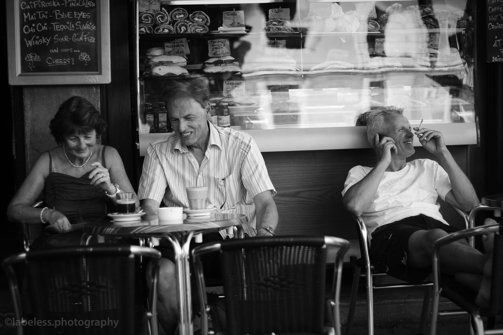 teatime. black/white.