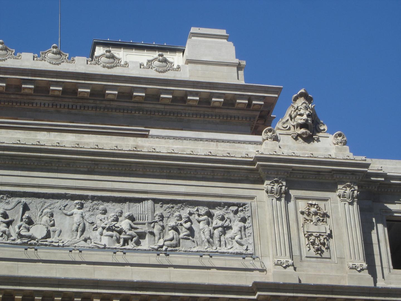teatro Colón detalle fachada