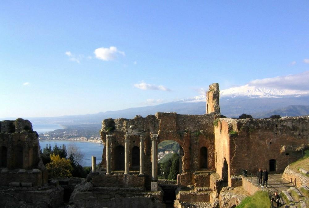 Teatro greco di Taormina e Etna