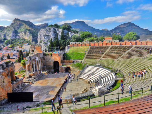Teatro Greco -overview, Taormina, Sicily