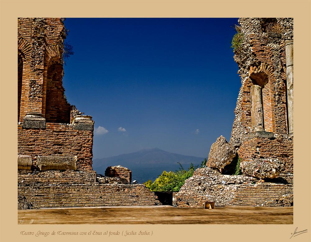 Teatro Griego de Taormina ( Sicilia Italia )