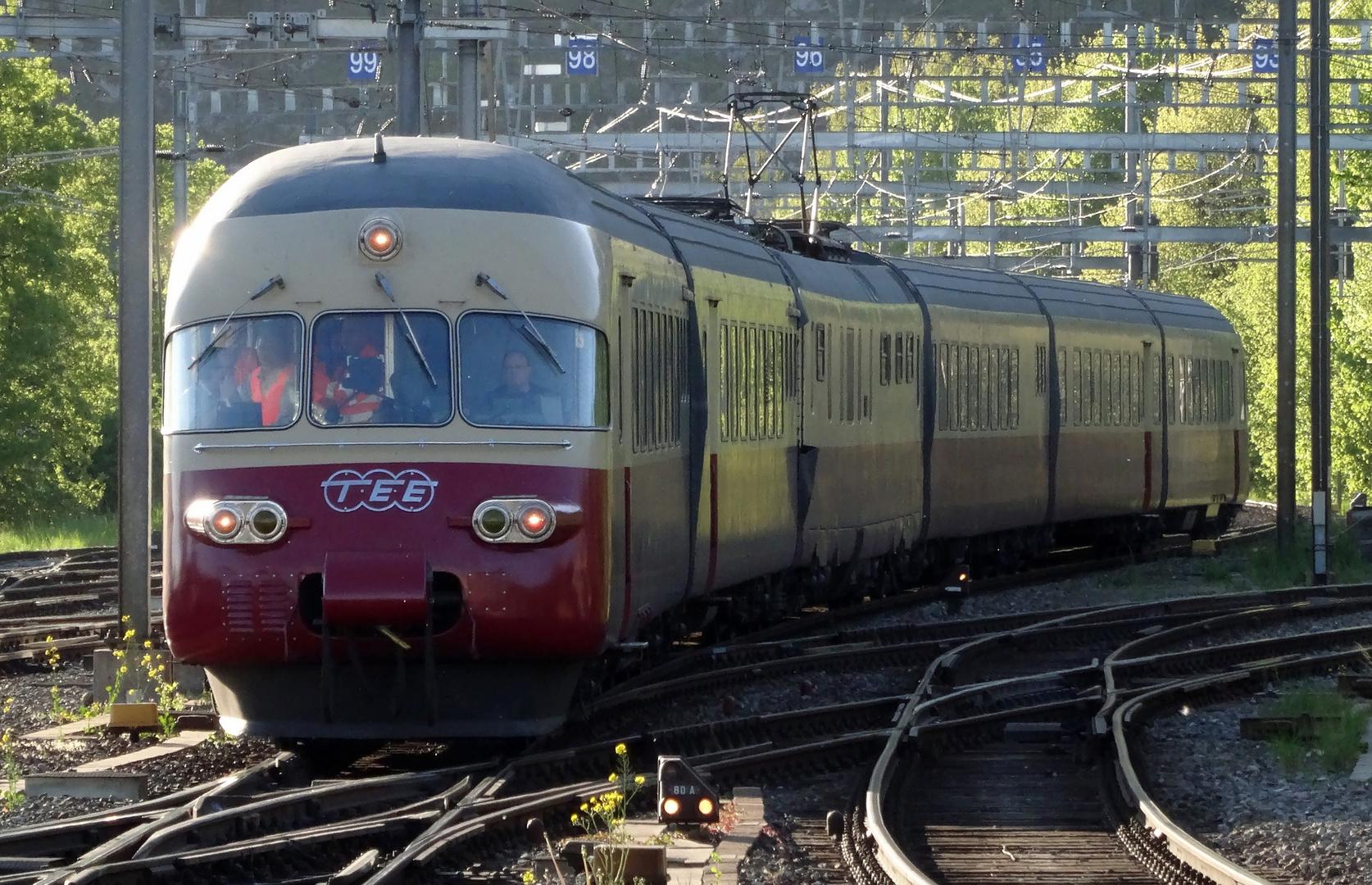 TEE-Triebzug RAe II 1053 - Rückkehr von der Messfahrt