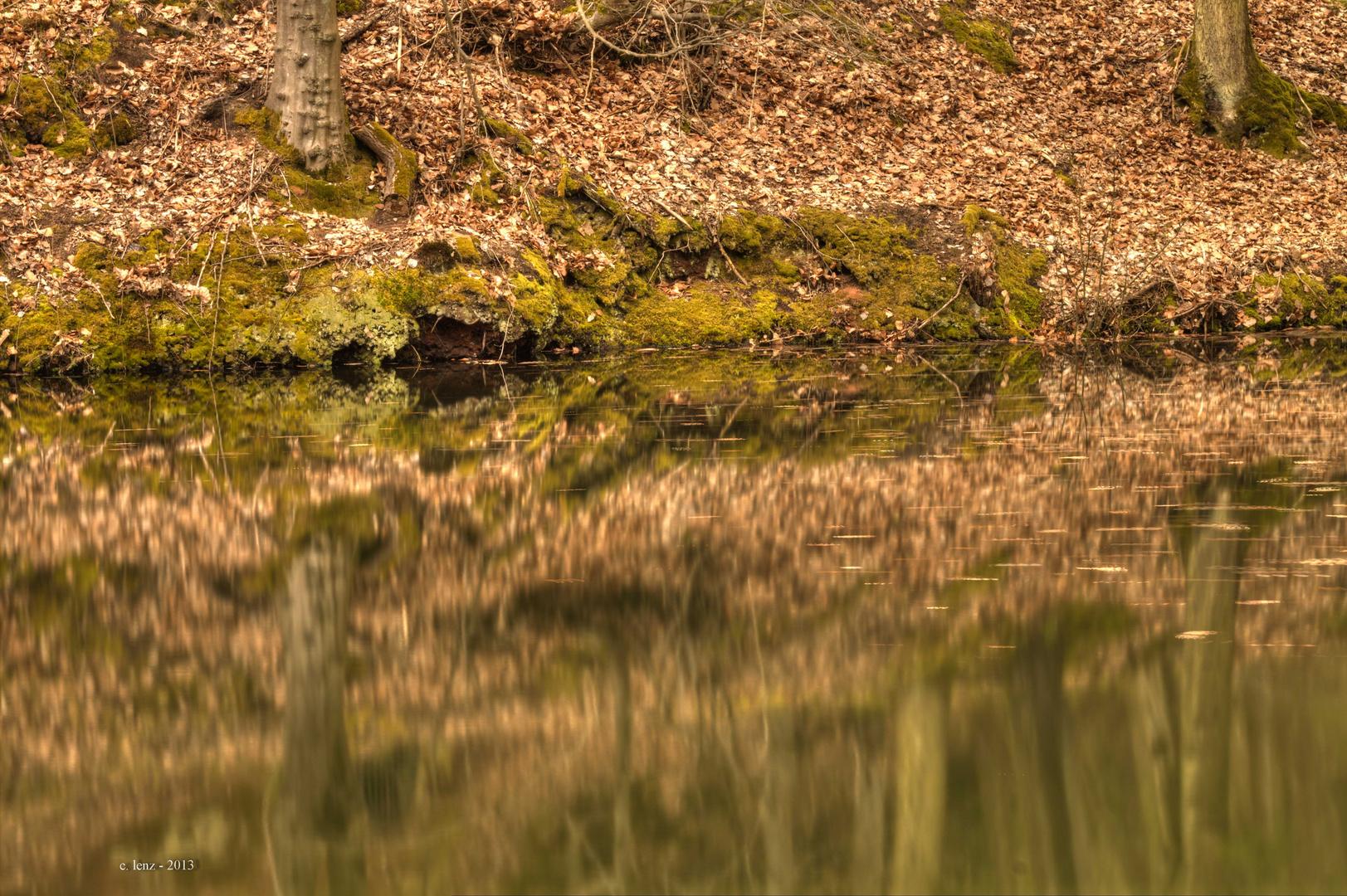 Teich an der A6